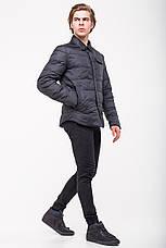 Демисезонная куртка-рубашка CLASNA CW18MC054 темно-синяя, фото 2