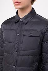 Демисезонная куртка-рубашка CLASNA CW18MC054 темно-синяя, фото 3