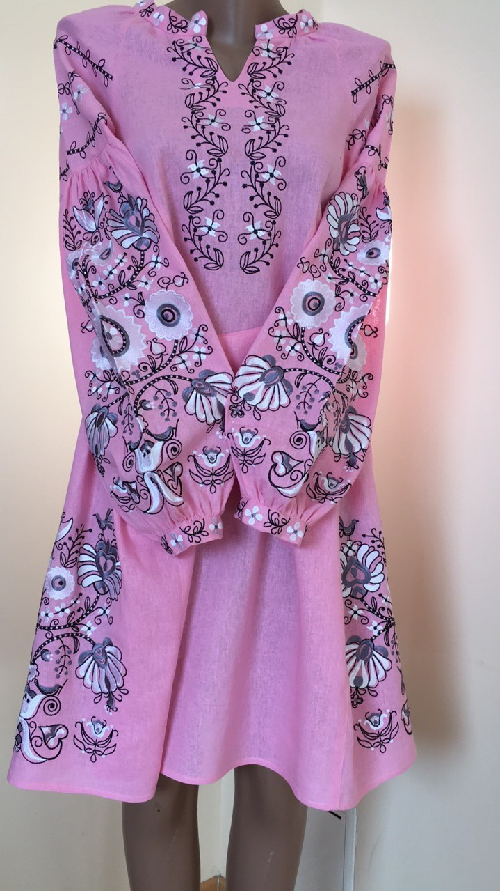 421a419fa55bf6 Вишита дизайнерська сукня на льоні машинна вишивка: продажа, цена в ...