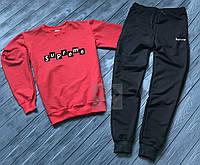 Спортивный костюм Supreme Суприм красный с черным (РЕПЛИКА)