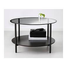 ВИТШЁ Журнальный стол, черно-коричневый, стекло, 75 см 80213309 IKEA, ИКЕА, VITTSJÖ, фото 2