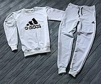Спортивный костюм мужской Adidas Адидас серый (РЕПЛИКА)