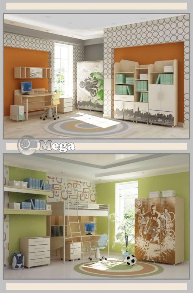 Детская комната Mega (В интерьере, серия модификаций)