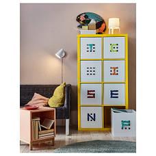 КАЛЛАКС Стеллаж, желтый, 77x147 см 50323385 IKEA, ИКЕА, KALLAX, фото 3