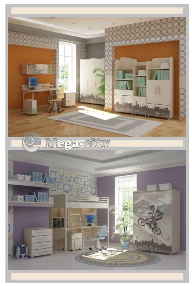 Детская комната Mega-City (В интерьере, серия модификаций) фото 2