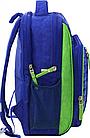 Рюкзак школьный синий Гоночная машина, фото 2