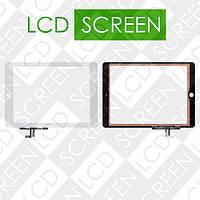 Тачскрин (touch screen, сенсорный экран) для планшета Apple iPad 5 Air, белый, с защитным стеклом