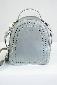Рюкзак с заклепками David Jones серебро