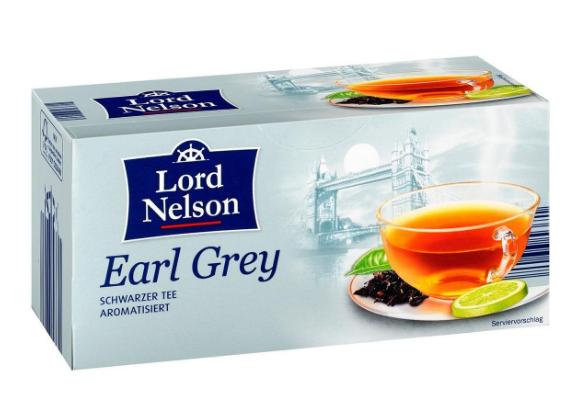 Чай с бергамотом Lord Nelson Earl Grey 40 пакетов