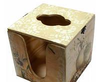 "Салфетница кубик ""Оливки"" (14х14х14) сосна, липа"