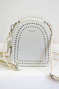 Рюкзак с заклепками David Jones белый
