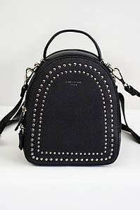 Рюкзак с заклепками David Jones черный