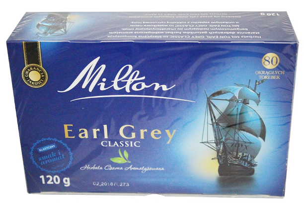 Чай Milton Earl grey Classik 80 пакетов