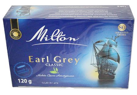 Чай Milton Earl grey Classik 80 пакетов, фото 2
