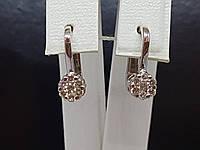 Золотые серьги с бриллиантами. Артикул 14812, фото 1