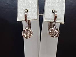 Золотые серьги с бриллиантами. Артикул 14812