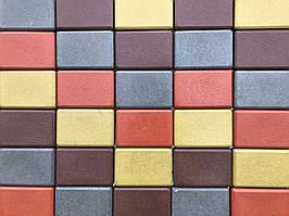 Тротуарная плитка Брук стенд 20 330, Брук, Вибролитая, оранжевый