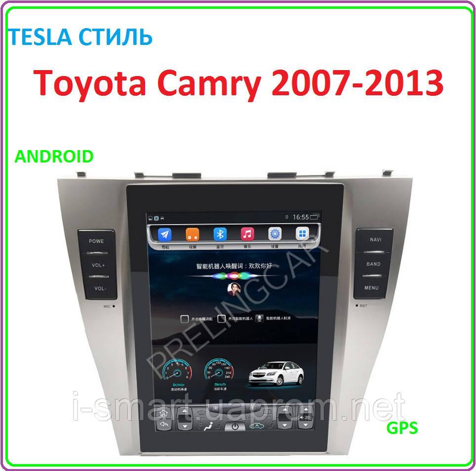 Магнитола для Toyota Camry 2007-2013 Android tesla стиль