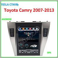 Магнитола для Toyota Camry 2007-2013 Android tesla стиль, фото 1