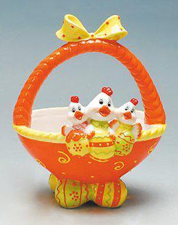 Корзинка керамика пасхальная для  яиц Bonadi 23-E200