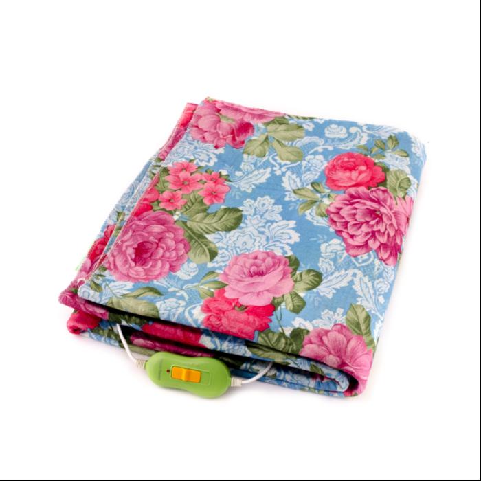 Электрическая простынь Lux Electric Blanket Pink Flowers 120×155 см