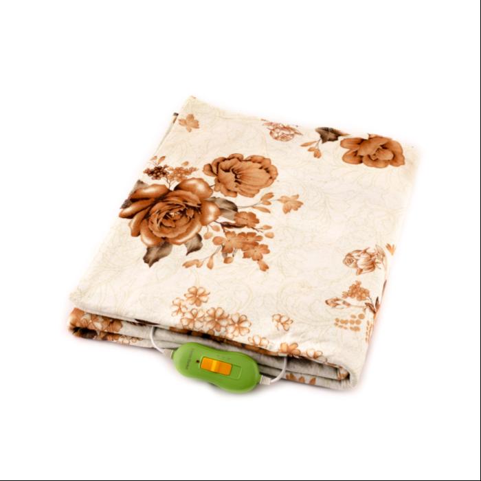 Електрична простирадло Lux Electric Blanket Brown Flowers 120?155 см