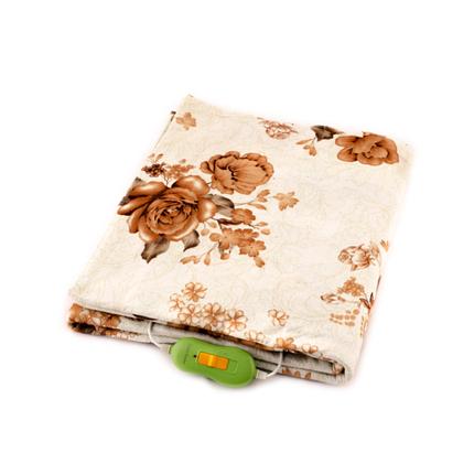 Електрична простирадло Lux Electric Blanket Brown Flowers 120?155 см, фото 2