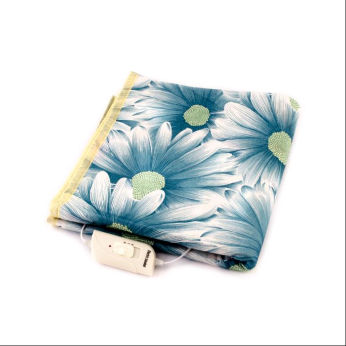 Электропростыня NEW KET Dark Blue Flowers 75×155 см