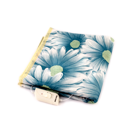 Электропростыня NEW KET Dark Blue Flowers 75×155 см, фото 2