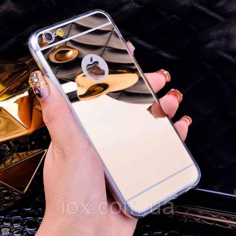 Зеркальный золотой чехол для iPhone 7 и iPhone 8