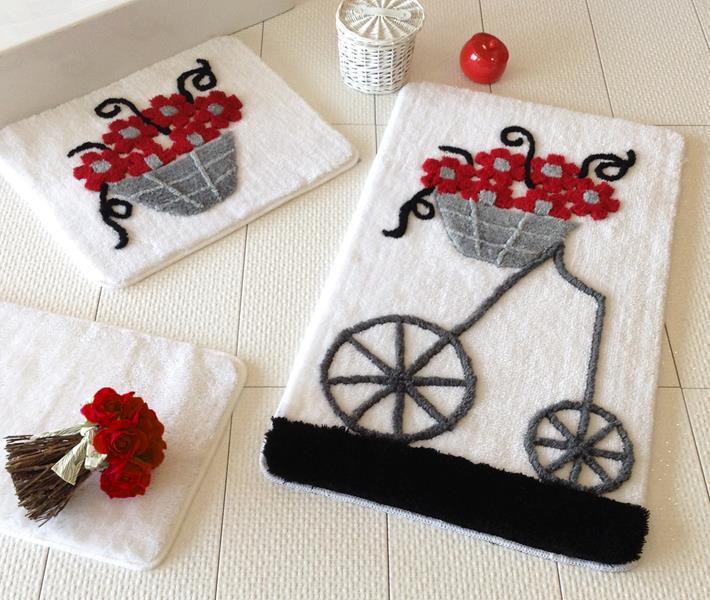 Набір килимків у ванну кімнату Alessia 1001 60х100, 50х60 і 40х60