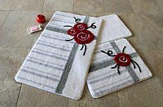 Набор ковриков в ванную комнату Alessia 1006 60х100, 50х60 и 40х60