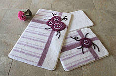 Набор ковриков в ванную комнату Alessia 1007 60х100, 50х60 и 40х60