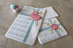 Набор ковриков в ванную комнату Alessia 1008 60х100, 50х60 и 40х60