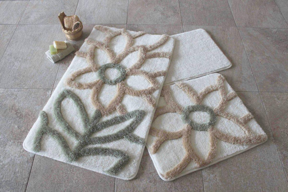 Набір килимків у ванну кімнату Alessia 1010 60х100, 50х60 і 40х60