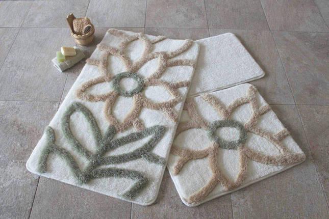 Набір килимків у ванну кімнату Alessia 1010 60х100, 50х60 і 40х60, фото 2
