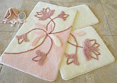 Набор ковриков в ванную комнату Alessia 1013 60х100, 50х60 и 40х60