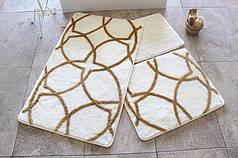 Набор ковриков в ванную комнату Alessia 1015 60х100, 50х60 и 40х60