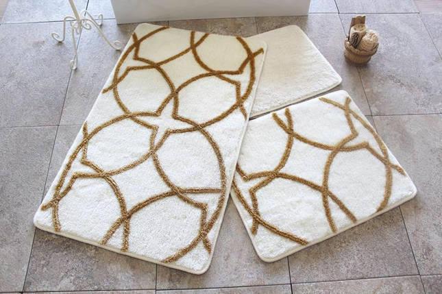 Набор ковриков в ванную комнату Alessia 1015 60х100, 50х60 и 40х60, фото 2