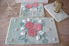Набор ковриков в ванную комнату Alessia 1017 60х100, 50х60 и 40х60