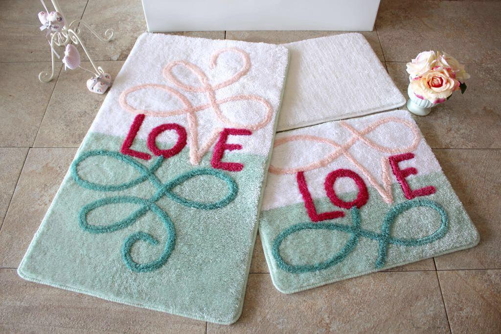 Набор ковриков в ванную комнату Alessia 1018 60х100, 50х60 и 40х60