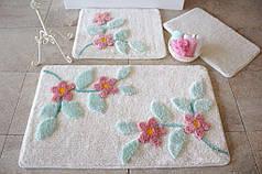 Набор ковриков в ванную комнату Alessia 1019 60х100, 50х60 и 40х60