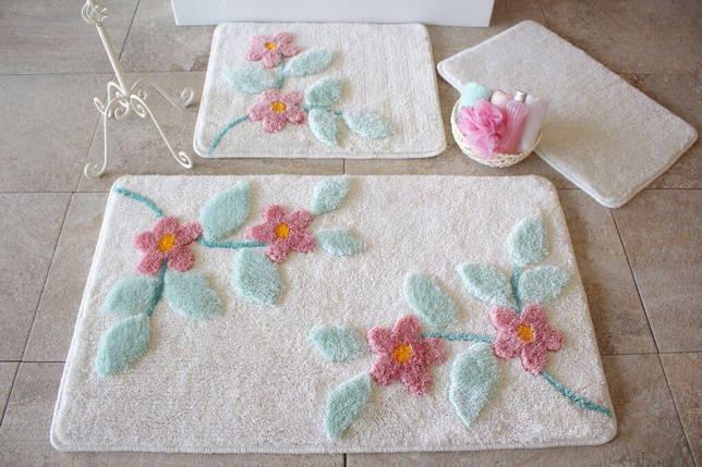 Набор ковриков в ванную комнату Alessia 1019 60х100, 50х60 и 40х60, фото 2