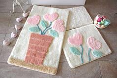 Набор ковриков в ванную комнату Alessia 1020 60х100, 50х60 и 40х60