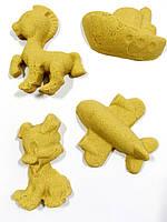 Кинетический песок Supergum 3 кг с четырьмя формочками бежевый (1001-3)