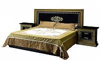 Ліжко з ДСП/МДФ в спальню 2-сп (б/матрасу та каркаса) Софія Люкс чорне Світ Меблів