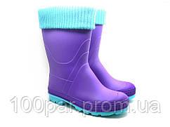 Сапоги подростковые с утеплителем. Фиолетовый. Размер: 36-40