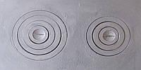 """Плита чугунная """"Славута"""" двухконфорочная  400*700 мм (вес - 25 кг)"""