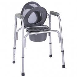 Стул - туалет стандартный алюминиевый OSD-RB-2109A ( 3в1 : туалет , сиденья , сиденья в душ) ( высота: 50-63 )