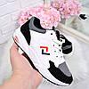 Кроссовки женские под Fila белые 4473  спортивная обувь